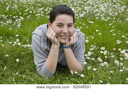 Young girl in relax