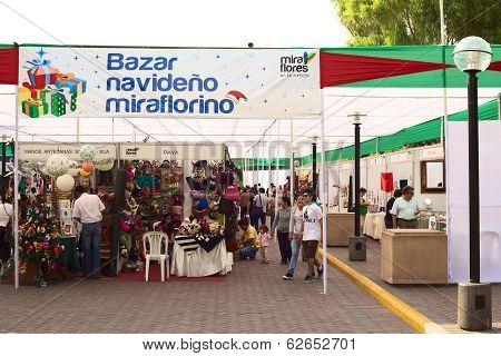 Christmas Market in Miraflores, Lima, Peru