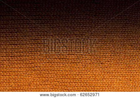 Orange Wool Knitwork Fade To Black