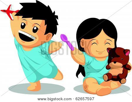 Boy & Girl Patient Playing