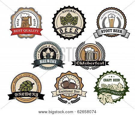 Brewery and beer labels