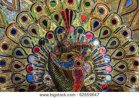Beautiful Of Colorful Jewel Peacock.
