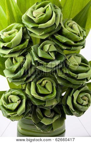 Rose of Pandan leaf