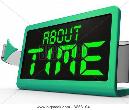 About Time Clock Shows Late Or Overdue
