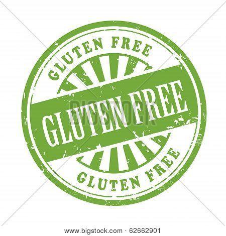 Gluten Free Grunge Rubber Stamp