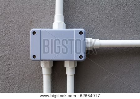 Electric control box on the wall