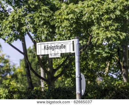 Street Sign Königstrasse