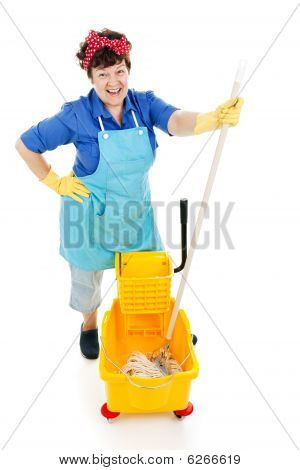 Maid With A Mop