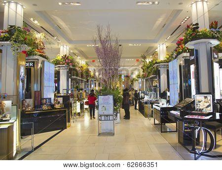 The Secret Garden theme flower decoration during famous Macy s Annual Flower Show