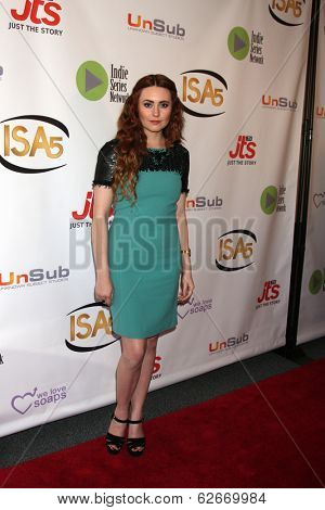LOS ANGELES - APR 2:  Jillian Clare at the 2014 Indie Series Awards at El Portal Theater on April 2, 2014 in North Hollywood, CA