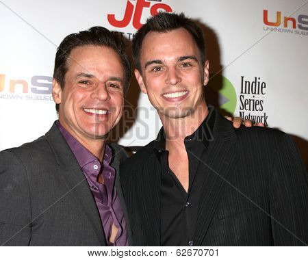 LOS ANGELES - APR 2:  Christian LeBlanc, Darin Brooks at the 2014 Indie Series Awards at El Portal Theater on April 2, 2014 in North Hollywood, CA