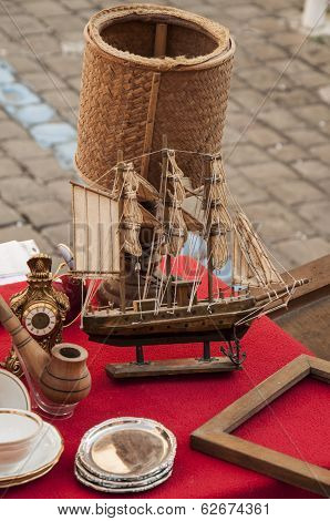 Antique Toy sailing boat