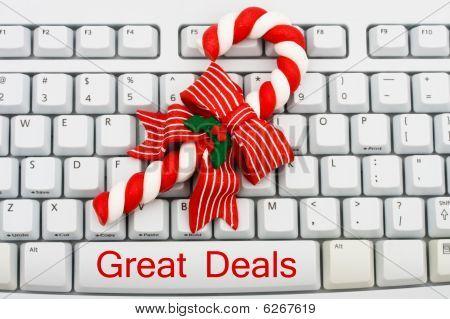 Weihnachts-shopping im Internet