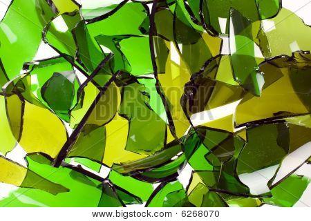 Composition Of Broken Bottles