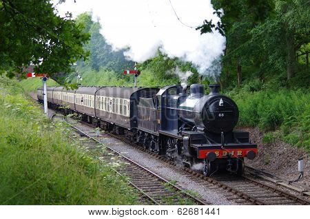 Steam Locomotive in the Somerset Countryside