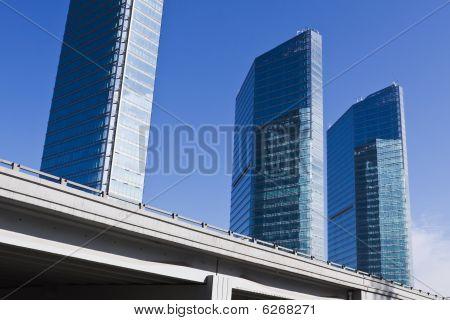 beijing: modern buildings and elevated road