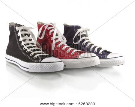 Red,blue and black classic sneakers