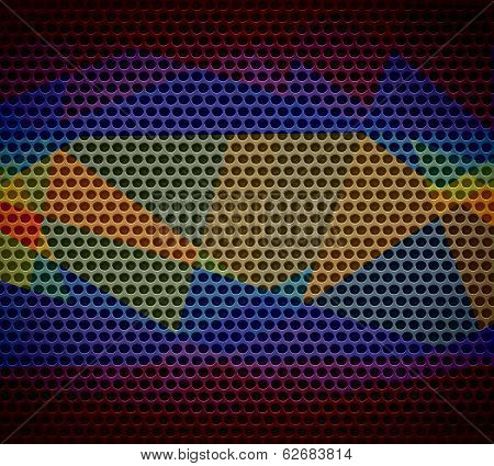 geometric mosaic background metal hole