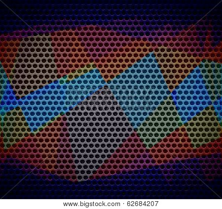 colored cubism background metal hole