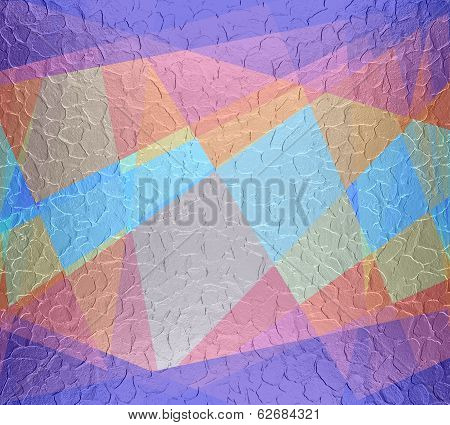colored cubism background metal plate