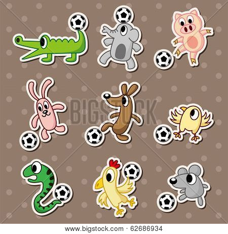 Animal Football Stickers/soccer Ball Stickers