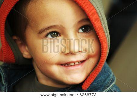 Happy Boy In Hood