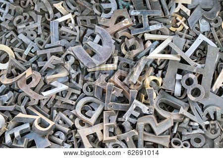 Iron letters and numbers