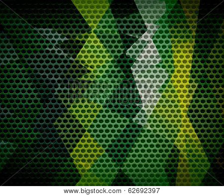 geometric cubism background metal hole