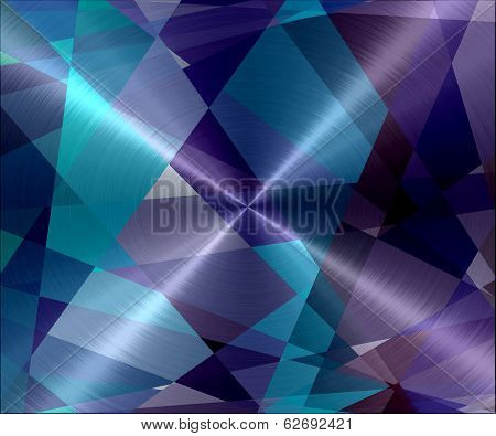 Geometric Metallic Stainless Steel Metal Texture Background