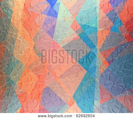 geometric cubism background metal plate