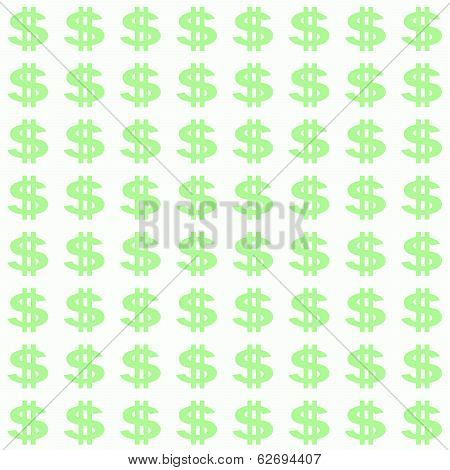 Small Light Green Dollar Sign Pattern