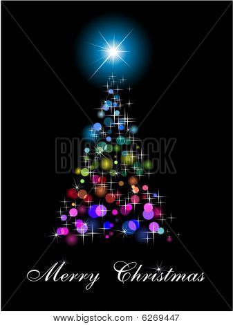 Rainbow Abstract Christmas Tree with High Contrast Colours