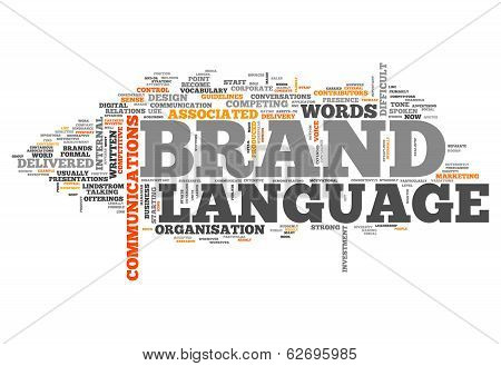 "Word Cloud ""brand Language"""