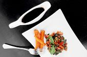 pic of soy sauce  - vegetable salad  - JPG
