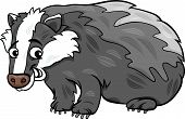 picture of badger  - Cartoon Vector Illustration of Cute Badger Animal - JPG