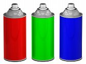 foto of spray can  - RGB color spray cans isolated - JPG
