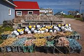foto of lobster trap  - Floats - JPG