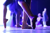 picture of ballet dancer  - Ballet dancers on stage