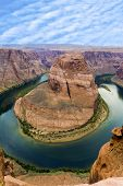image of horseshoe  - romantic horseshoe bend in page Arizona river colorado - JPG