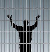 picture of lockups  - desperate prisoner in jail - JPG