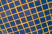 picture of tile cladding  - Full frame take of blue ceremic mosaic tiles