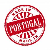 Made In Portugal Grunge Rubber Stamp