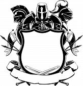 pic of knights  - A vector set of knightly ornamental silhouette - JPG