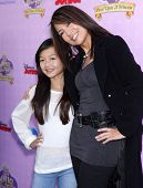 LOS ANGELES - NOV 09:  Ming-Na Wen & Michaela arrives to the