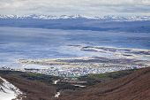 stock photo of tierra  - Ushuaia is the southernmost city in the world - JPG