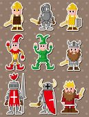 image of courtier  - Cartoon Medieval People Stickers - JPG