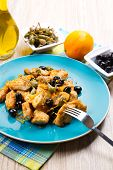 picture of swordfish  - a swordfish stew with caper and olives - JPG