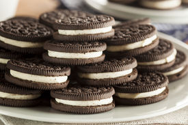 picture of vanilla  - Unhealthy Chocolate Cookies with Vanilla Cream Filling  - JPG