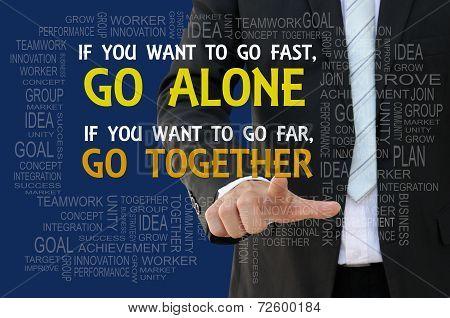 Teamwork motto business concept
