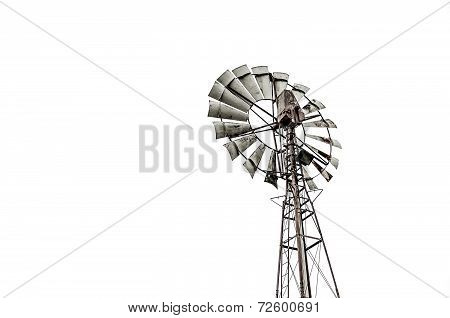 Viterbo,italy-december,20,2013:old Windmill